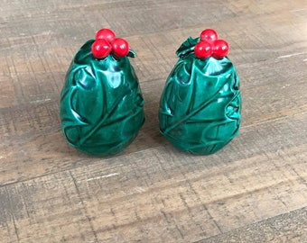 Christmas Tree Salt and Pepper Shakers, Christmas Salt and Pepper Shakers, Christmas Kitchen Decor