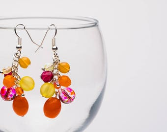 Tutti Frutti Fun Glass Bead Earrings