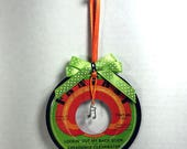 Creedence Clearwater Revival Vinyl Record Ornament Handmade - Christmas Decoration, Office decor, Birthday