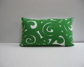 "12 x20"" pillow cover - vintage marimekko green fabric"
