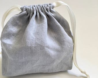 linen drawstring bags | linen gift bags | eco-friendly bags | reusable pouches | cloth reusable gift bags |