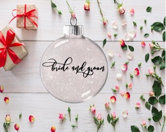 Gift for Bride and Groom, Wedding Ornament, Tree Decoration for Bridal Party, Present for Wedding Anniversary Bachelorette Party Gift