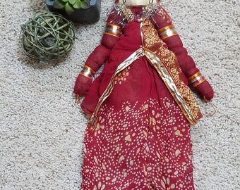 Rajasthan doll, Indian doll, Folk Art doll, Indian puppet