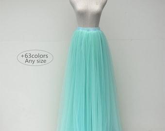 Floor length adlut tulle skirt,full length women wedding tulle skirt,bridal tulle skirt