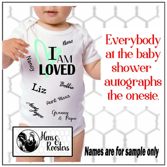 Baby Shower / Baby's 1st Birthday Autograph Creeper / Romper / Bodysuit (R4400) #1331