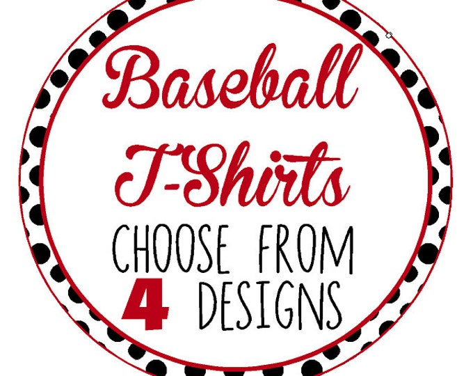 MONOGRAM Baseball Mom Shirts, Girlfriend, Sister, Aunt / Four Designs to Choose from / Fastpitch Shirt  - Up to a 5X - (G2000) #1301