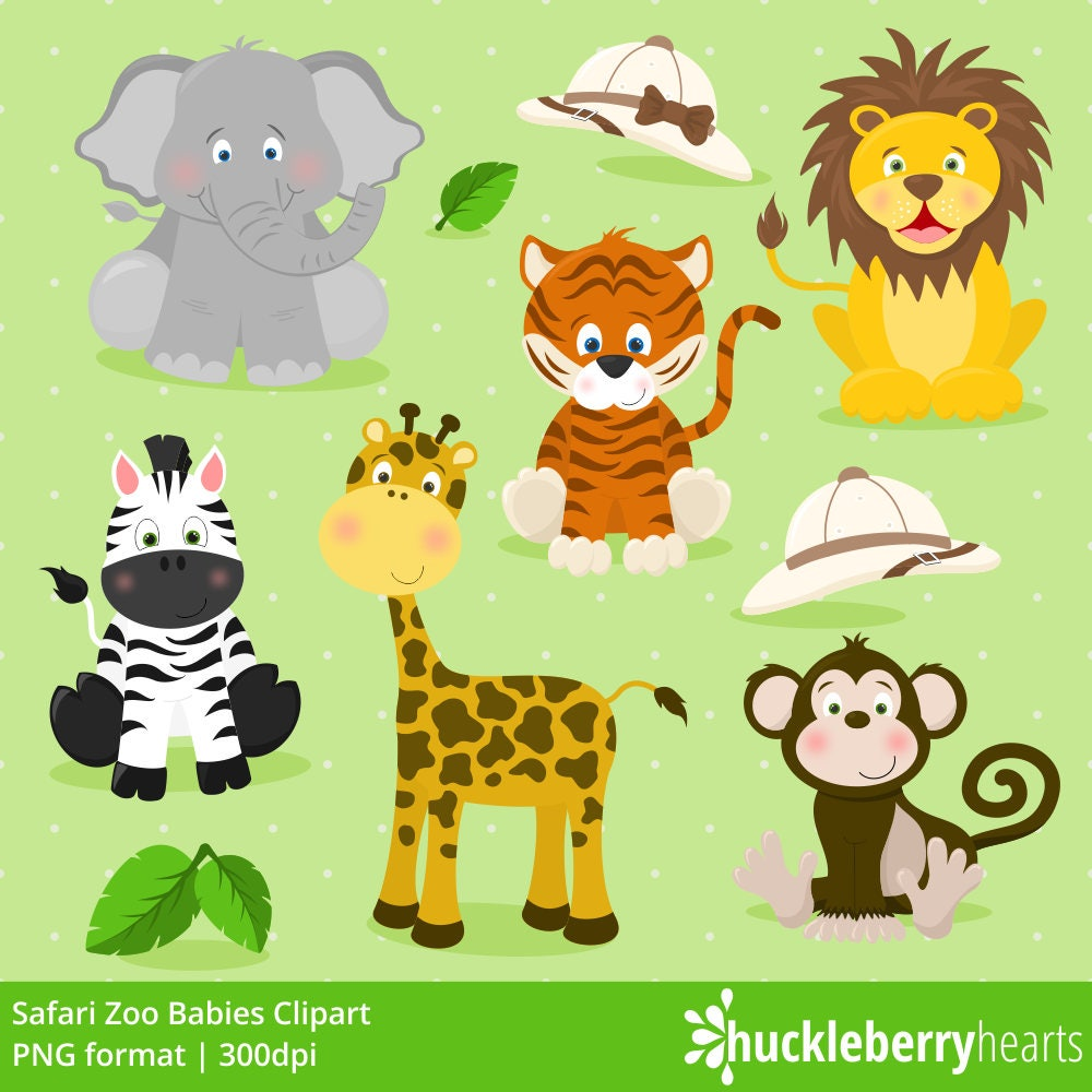 AUTUMN SALE Safari Zoo Animals Clipart Zoo Animals Zoo