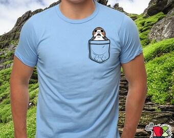 Porg Shirt | The Last Jedi Shirt | Porgs | Star Wars Shirt | Porgs Shirt | Pocket Porg | Cute Shirt | Mens Womens Unisex T Shirt