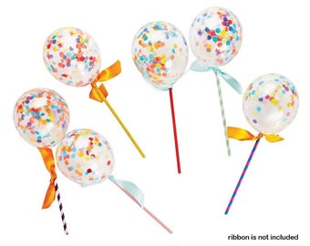 "Combo 30 pcs mini 5"" Confetti Balloons Pops - Wedding, Party, Decors, Gift Favors"