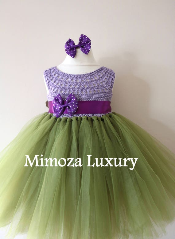 SALE size 6-12m, Ready to ship, Flower girl dress tutu dress,  bridesmaid dress, princess dress, crochet top tulle