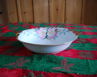 Noritake AZALEA Round Vegetable Salad Serving Bowl Dish - Red Stamp 19322 252622 - Hand Painted