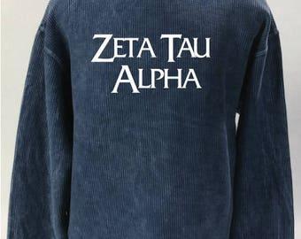 Zeta Tau Alpha Corded Sweatshirt