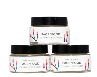 Restorative Face Moisturizer for Oily/Combination Skin/Anti-Aging/VEGAN/Raw Shea Butter/Organic Coconut Oi/ Essential Oils/Combo Skin Cream.