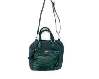 Vintage leather handbag • 80s womens handbag • leather handbag • crossbody bag • Womens leather bag with detachable straps