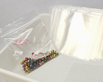 100 Resealable Ziplock Bags, 3x3 Clear Storage Bags, Poly Bags
