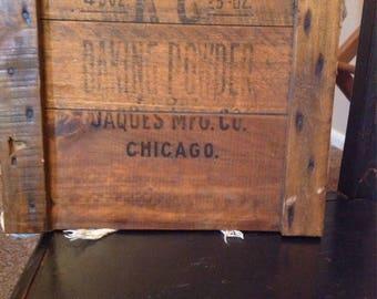 Vintage wooden crate top