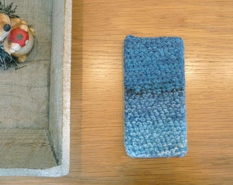 Crochet iPhone 6(S) cover, colorful phone cozy, iphone cozy, smartphone sleeve