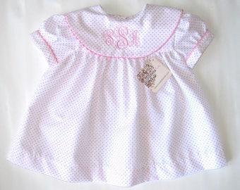 Easter Dress Girl, Easter Dress Toddler, Monogram Dress, Girl Easter Outfit, monogrammed dress, Summer Dress Spring Dress, NB,3M,6M,12M,2T