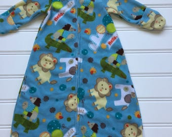 Blue Baby Sleep Sack, Baby Sleeping Bag, Baby Sleeper, Toddler Sleep Sack, Baby Pajamas, Wearable Blanket