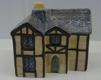 Carlton Ware model of The Village Hall from the Carlton Village series of town buildings. Vintage Carltonware.