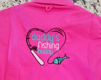 TODDLER  Fishing Shirt/ Monogrammed --With DADDYs BUDDY