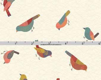 Bird Fabric, Hedgerow, Lewis & Irene A253 1 Bird Quilt Fabric, Cotton