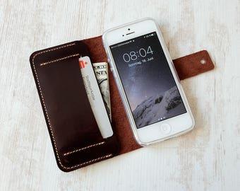 iPhone SE wallet case, iPhone 5 s wallet case, iPhone SE leather case, iPhone 5 s leather case, iPhone SE case, iPhone 5 s case
