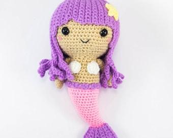 Mermaid Amigurumi - Crochet Mermaid - Mermaid Doll - Mermaid Decor - Mermaid Plush - Stuffed Mermaid - Crochet Doll - Amigurumi Mermaid