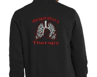 Respiratory Men's Therapy RT Jacket | RT | Zip up Jacket | Embroidered Jacket | Monogram | Respiratory | RT Gift | Custom Jacket | rrt | crt