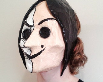 Paper Mache Wearable Coraline Mask Beldam Mask Other Mother Mask