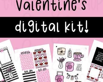 Valentine's Day Digital Design Kit | DIGITAL DOWNLOAD