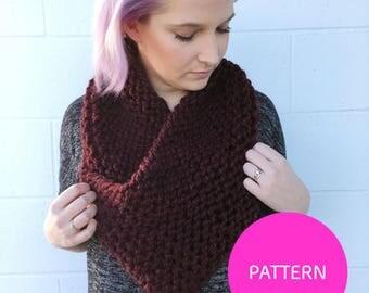 Knit Pattern Only*** Heart Cowl, knit cowl pattern, triangle cowl pattern, triangle cowl, cozy knit cowl pattern, cowl pattern, knit cowl