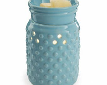 Midsize Ceramic Illumination Tart Warmer - Hobnail - Valentines Day Gift