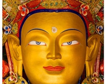 Golden Maitreya Buddha - Meditation Poster