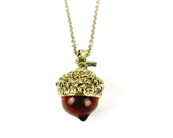 Oak Acorn Necklace // Nature Necklace, Nature Jewelry, Acorn Jewellery, Acorn Charm Necklace, Fall Necklace, Fall Accessories, Autumnal