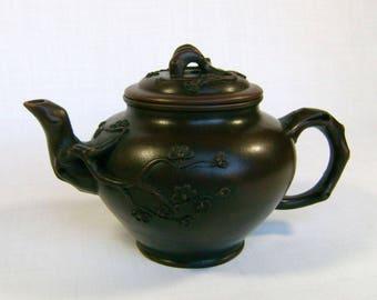 Yixing Pottery Cherry Blossom Teapot