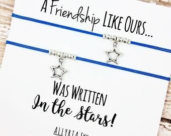 Set of Two Star Friendship Bracelets | Best Friend Bracelets | Best Friend Gift | BFF Bracelets | Matching Friend Bracelets | Star Jewelry