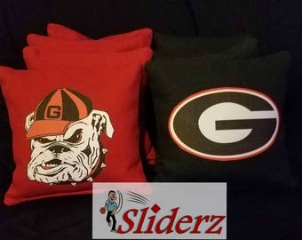 UGA Cornhole Bags Classic Georgia Bulldog .Ships within 1-2 days