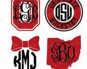OSU Vinyl Decal - Monogram Ohio State Sticker - Ohio State University