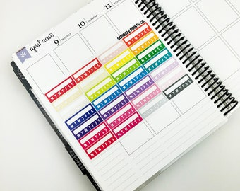 Habit Stickers (Glossy Planner Stickers)