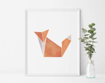 Fox Wall Art fox nursery art | etsy
