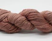 Hand Dyed 4ply British BFL & Masham Wool Yarn - Faded Rose