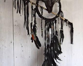 Handmade Wolf Pagan Dreamcatcher