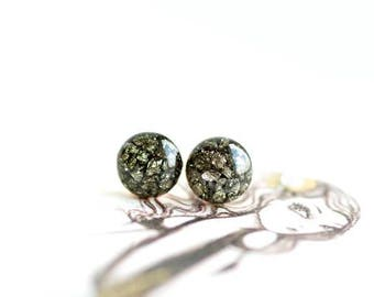 FREE SHIPPING // Pyrite Earrings // Pyrite Earrings // Pyrite Jewelry // Pyrite Crystal // Stud Earrings // Earrings For Bridesmaids