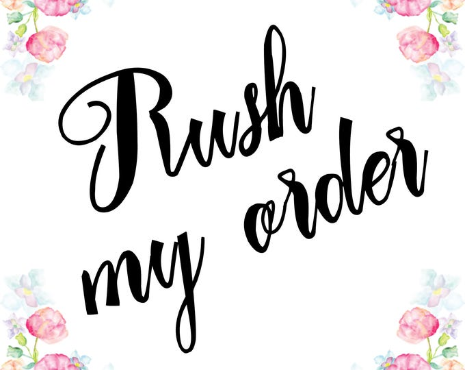 RUSH my ORDER Need you flowers made in max. 2 weeks? That option is for you. Wedding flowers arrangements, bouquets, last minute order