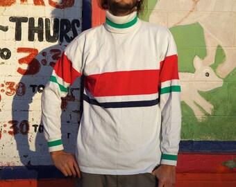 90's STRIPED TURTLENCK long sleeve t-shirt size medium by woodward