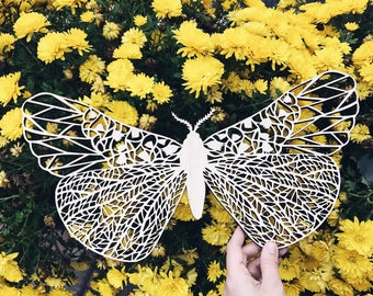 """Plywood art work. Wall hanging art decor made of plywood. The copy of original paper art """"Butterfly """" made in plywood."""