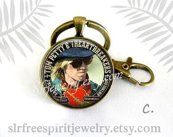 Tom Petty Key Chain, Musician, Gainesville Icon, Remembering Tom Petty, Famous Musicians, Rock Music, Gift for Tom Petty Fan,