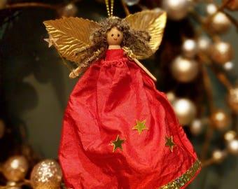 Red Silk Christmas Fairies