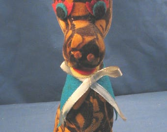 Vintage Stuffed Giraffe Toy